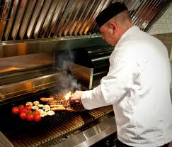 Chef at Work on The Grill