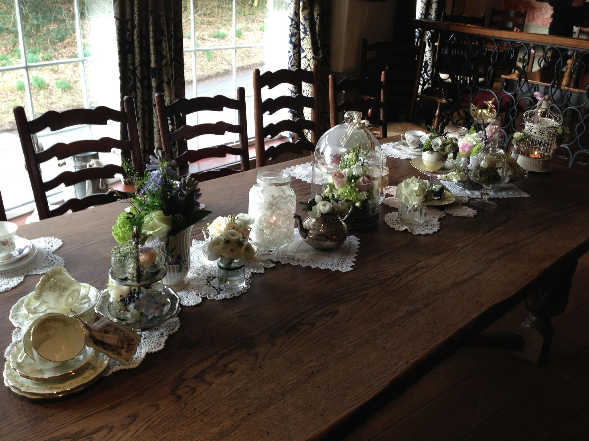 Flower Design with Vintage Crockery