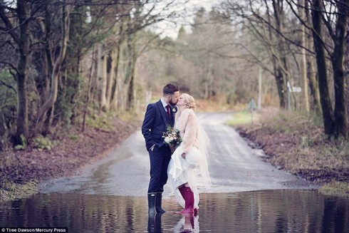 Hayley and Jamie get married in the height of the Floods, Wild Boar December 2015.