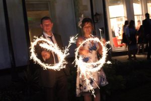 Sparkler fun at the Belsfield Hotel