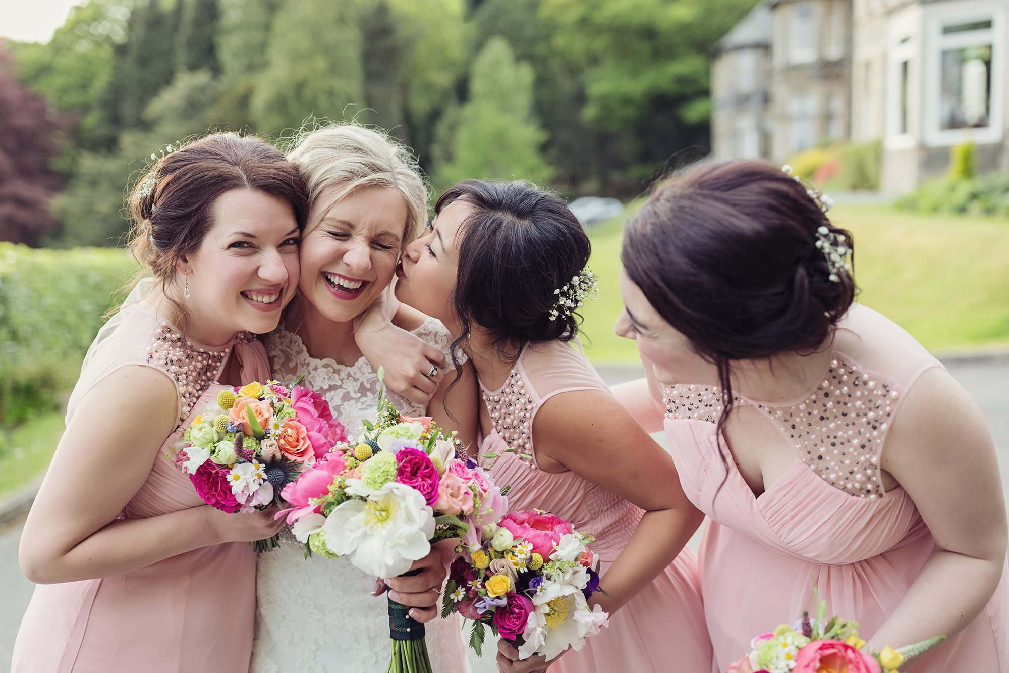 The Bride and Her Bridesmaids.