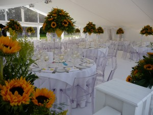 Inside Julia and Bens Marquee