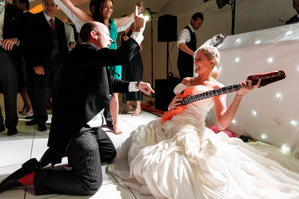 The Perfect Re-action from a Bride....Julia Rocks Out.