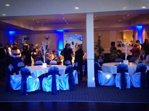 Up lighting at Clifton Arms Hotel