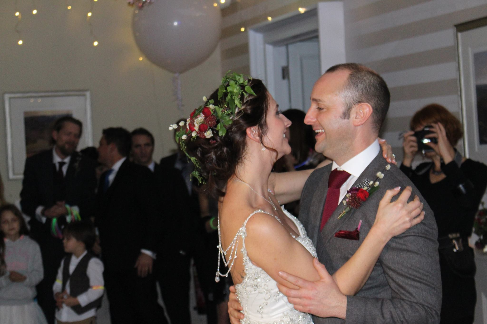 Bride and Groom's First Dance at The Belsfield Hotel.