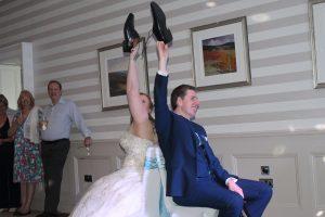 The Shoe Game. Danielle and Gareth